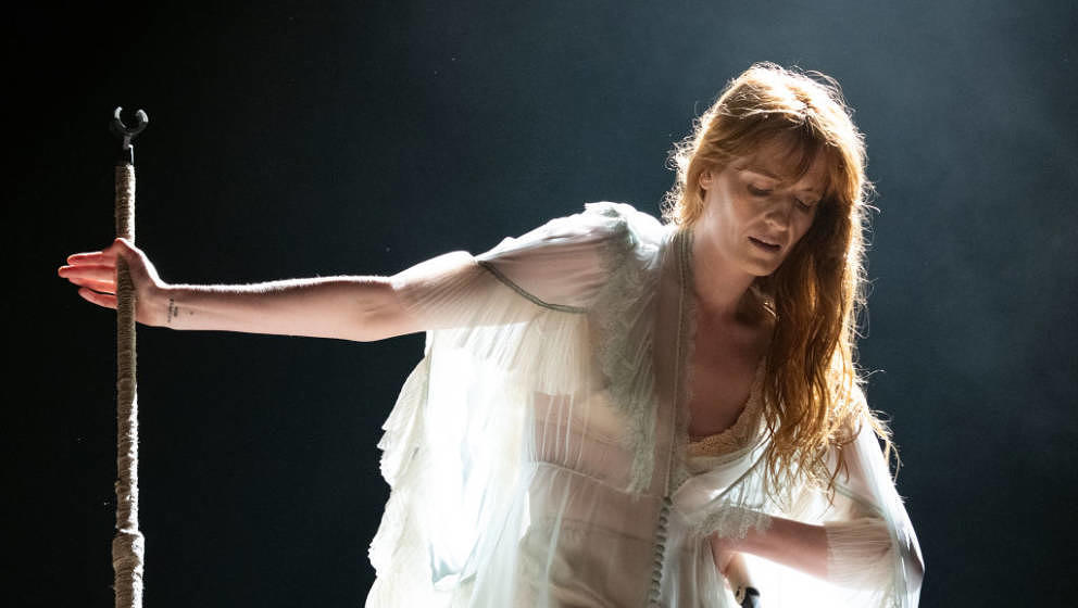NEW YORK, NEW YORK - JUNE 01: Florence Welch of Florence + the Machine performs at the 2019 Governors Ball Festival at Randal