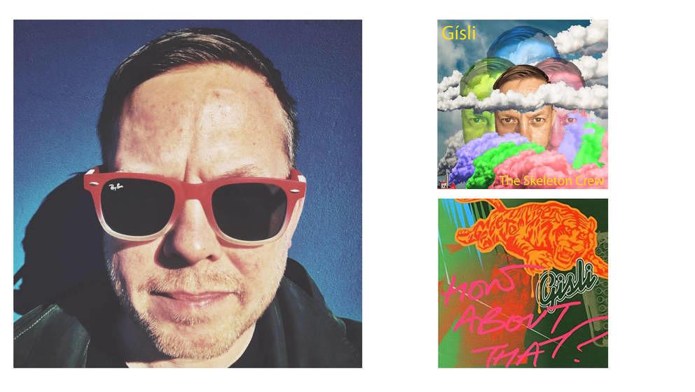 Gisli Kristjansson und seine zwei bisher erschienenen Alben.