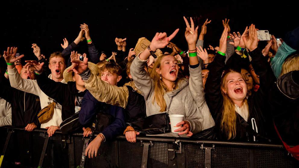 Publikum auf dem Roskilde Festival in normalen Zeiten