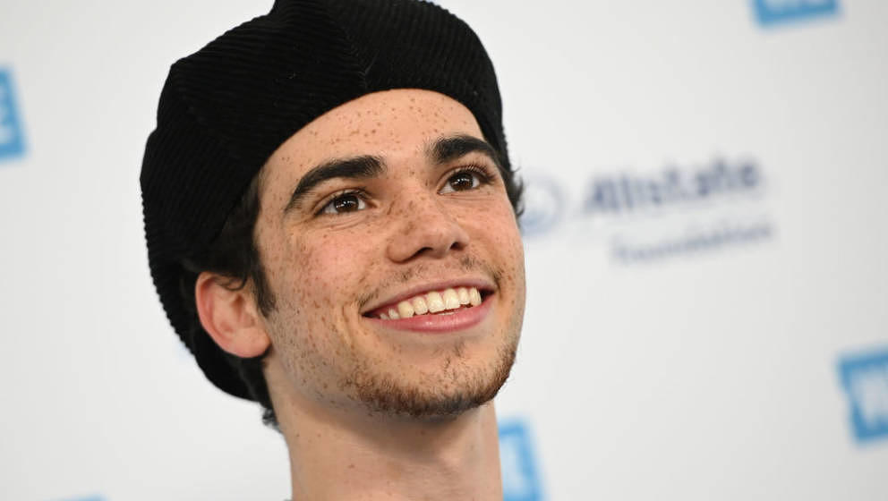 Actor Cameron Boyce arrives for WE Day California at the Forum in Inglewood, California on April 25, 2019. - WE Day is the wo