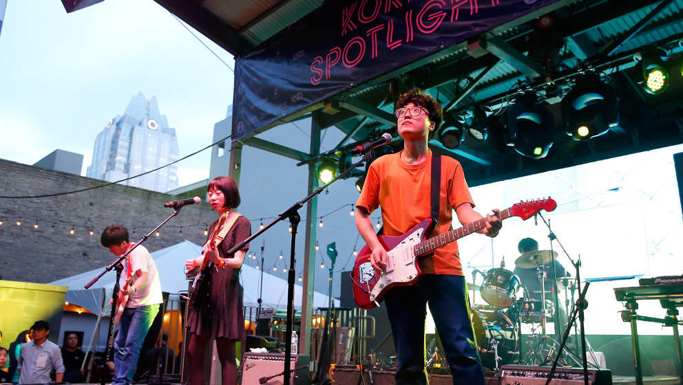 AUSTIN, TX - MARCH 16:  Jae Young, Sumi Choi, Kang Senin and Kim Byungkyu of Say Sue Me perform onstage at KOCCA during SXSW