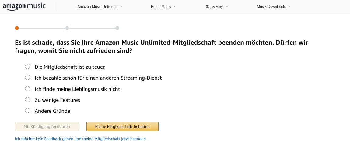 Amazon Music Kündigen