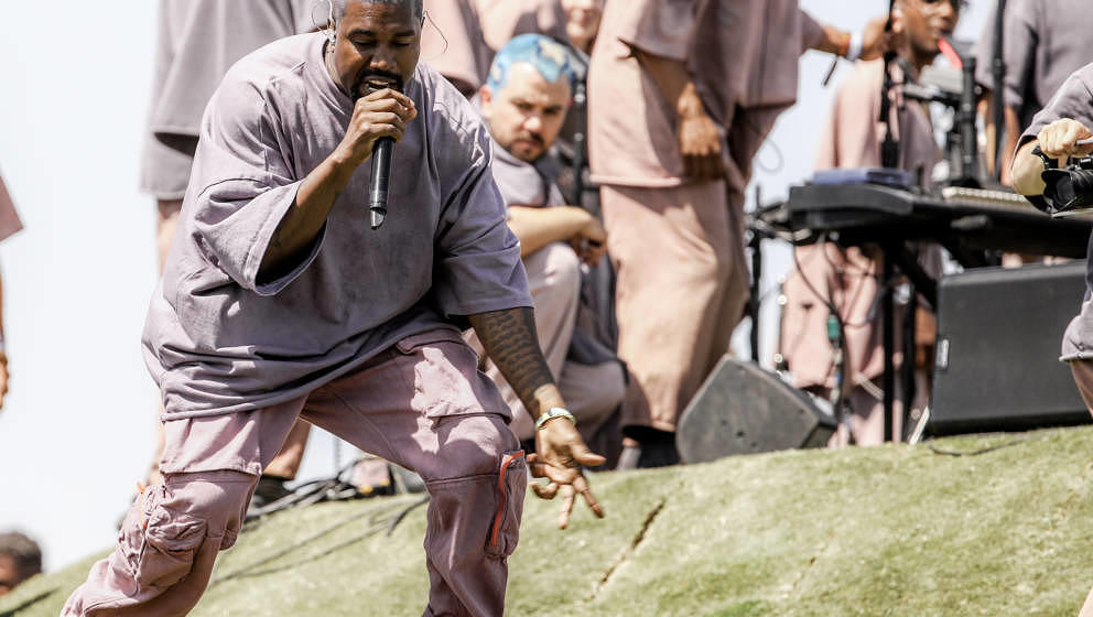 Kanye West auf dem Coachella Festival im April 2019
