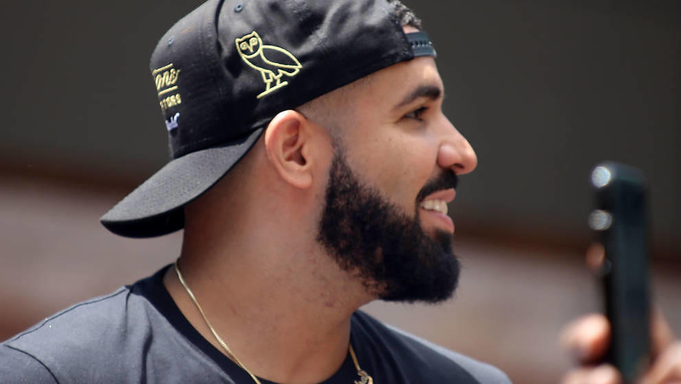 TORONTO, ON - JUNE 17:  Rapper and Toronto Raptors Global Ambassador, Drake, attends the Toronto Raptors Championship victory