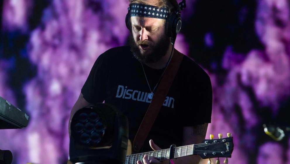 Justin Vernon auf seiner aktuellen Tour mit Bon Iver, hier am 2. Juni 2019 beim All Points East Festival in London