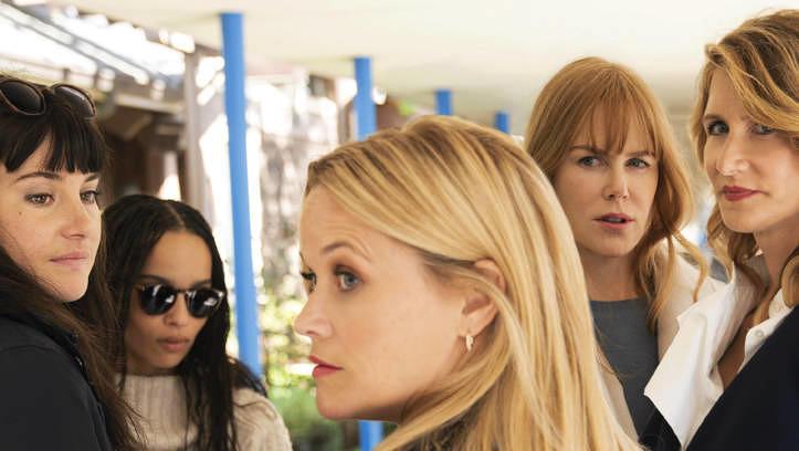 """Die Monterrey Five: Shailene Woodley, Zoe Kravitz, Reese Witherspoon, Nicole Kidman und Laura Dern in """"Big Little Lies"""""""