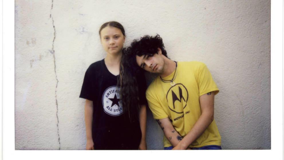 Greta Thunberg und Matt Healy, Sänger von The 1975