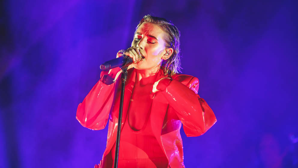 MADRID, SPAIN - JULY 10: Lykke Li performs on stage during MadCool Festival Presentation Party on July 10, 2019 in Madrid, Sp