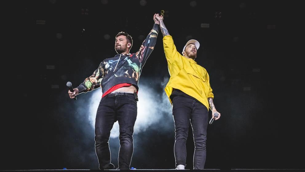 Casper und Marteria bei ihrem Auftritt bei Rock am Ring im Juni 2019