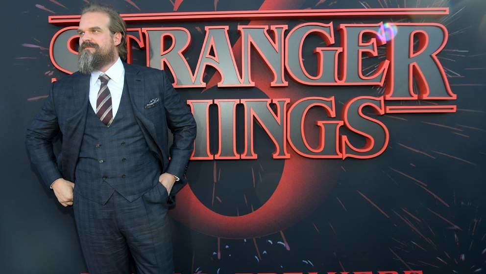 "David Harbour (verkörpert die Rolle des Jim Hopper) auf der ""Stranger Things 3"" - Weltpremiere im Juni 2019"