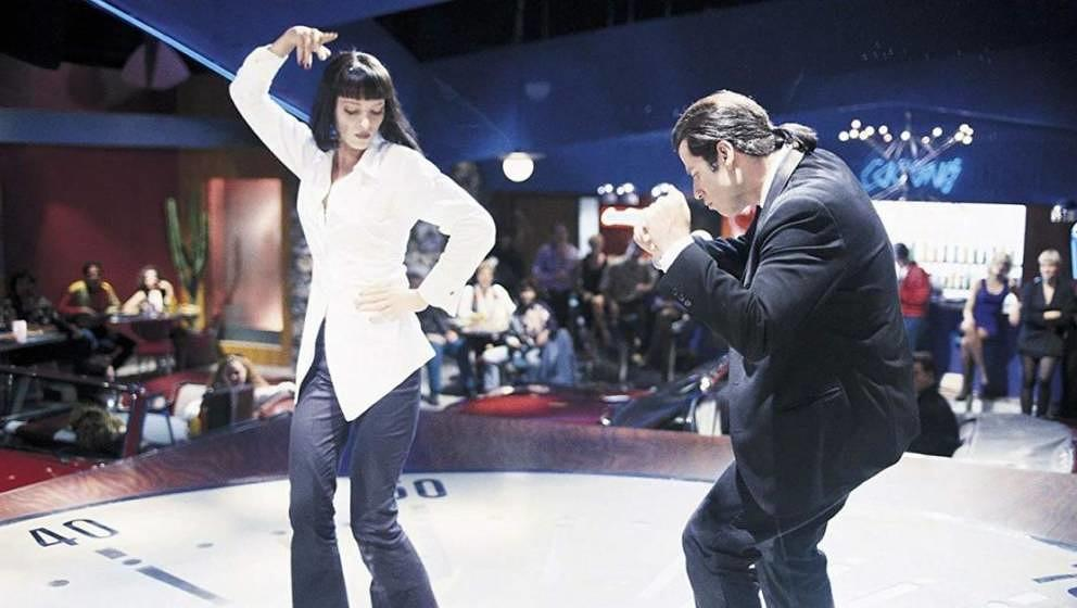 "Uma Thurman und John Travolta in Tarantinos Kultfilm ""Pulp Fiction"""