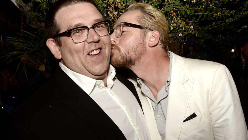 "Nick Frost und Simon 2013 auf der After-Show-Party der Premiere von ""The World´s End"" in Los Angeles"