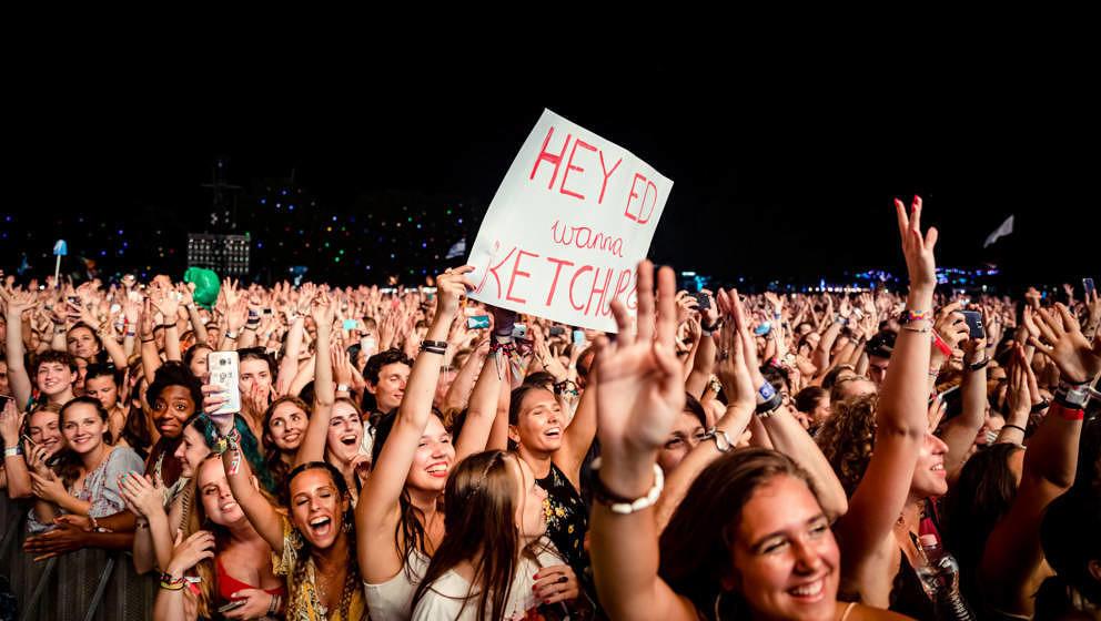 Ed Sheeran Fans beim Sziget Festival 2019