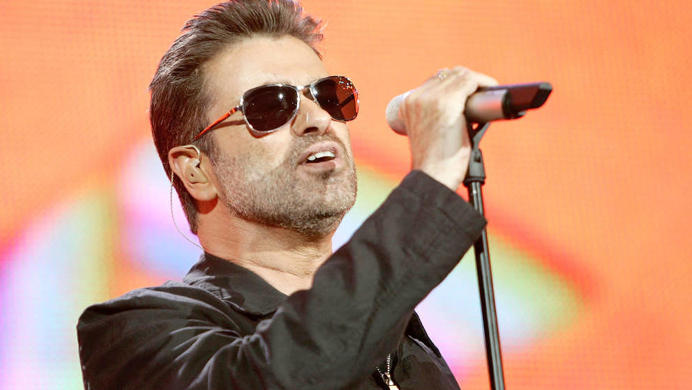 LONDON - JULY 02:  Singer George Michael performs on stage at 'Live 8 London' in Hyde Park on July 2, 2005 in London, England