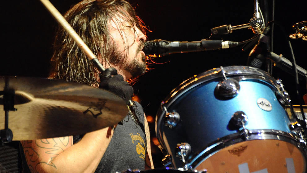 Dave Grohl of Them Crooked Vultures performs during day 1 of the Coachella Valley Music & Arts Festival 2010 held at The