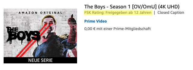 "Falsche Freigabe von ""The Boys"" bei Amazon Prime Video"