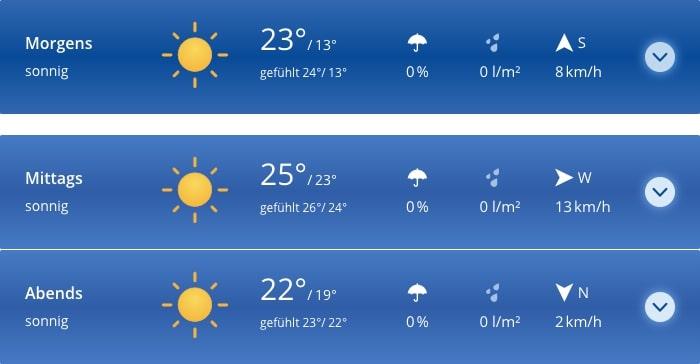 Wettervorhersage für Freitag den 23. August in Jamel