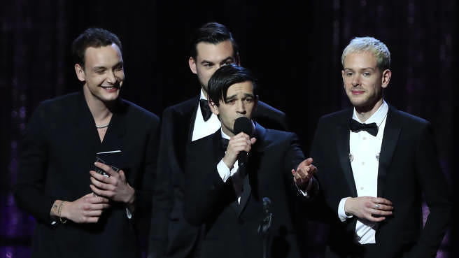 The 1975 im Februar 2019 bei den BRIT Awards in London