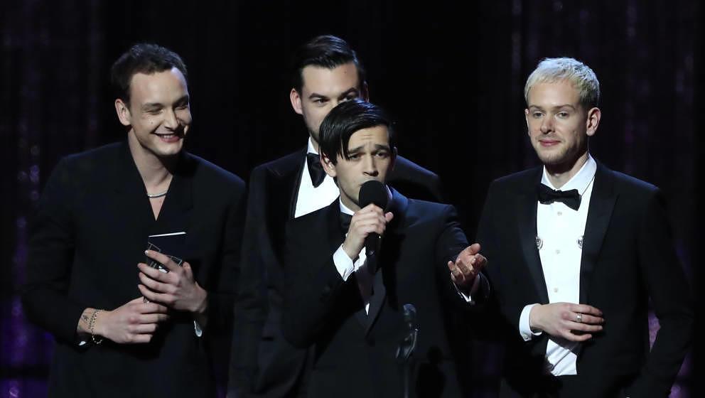 The 1975 im Februar 2019 bei den BRIT Awards in London