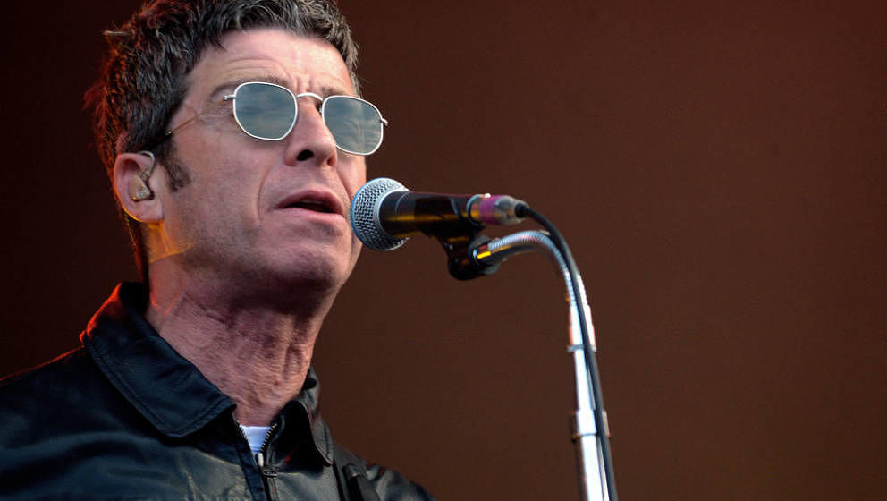 LANDGRAAF, NETHERLANDS - JUNE 16:  Noel Gallagher performs with his group High Flying Birds on the second day of Pinkpop fest