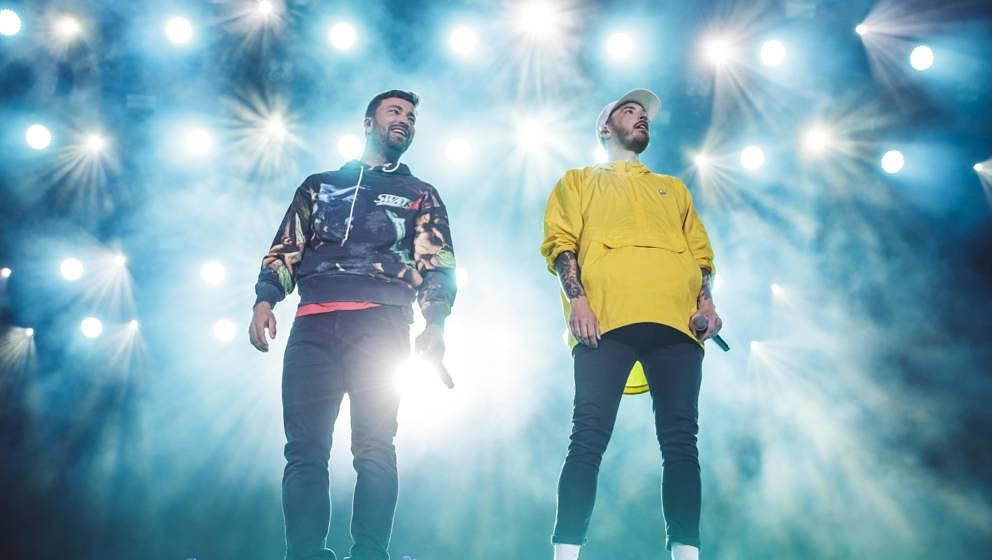 """Marteria und Casper hier 2019 live bei """"Rock am Ring""""."""