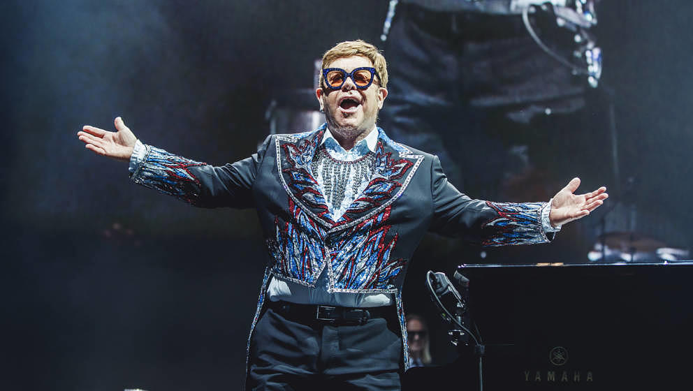 Elton John live am 26. Juni 2019 in Madrid.