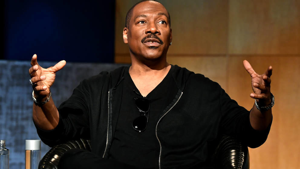 BEVERLY HILLS, CALIFORNIA - JULY 17: Eddie Murphy speaks onstage during  the LA Tastemaker event for Comedians in Cars at The