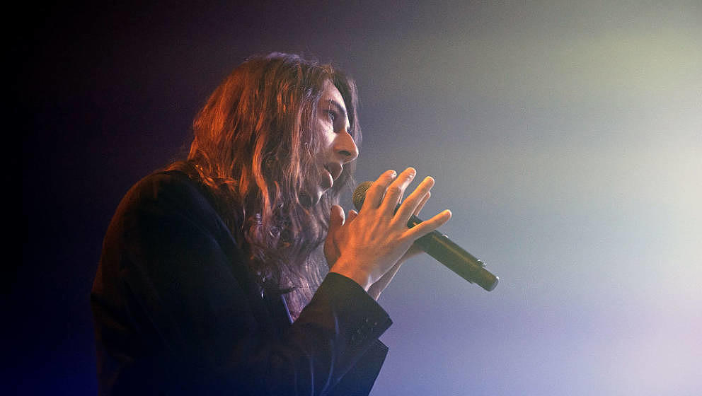 LONDON, UNITED KINGDOM - JANUARY 16: Adam Bainbridge of Kindness performs on stage at Electric Brixton on January 16, 2015 in