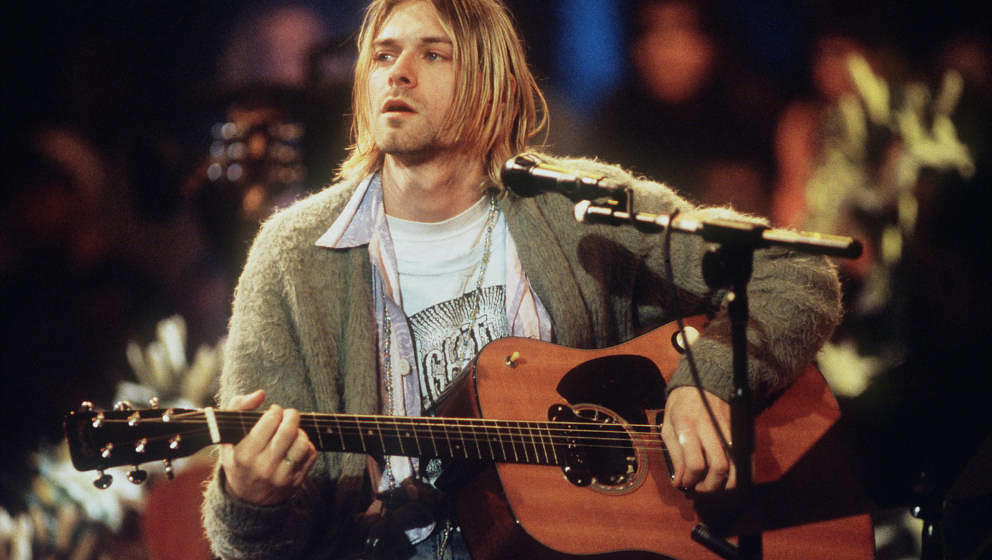 Kurt Cobain 1993 Live beim MTV Unplugged Konzert mit Nirvana in New York