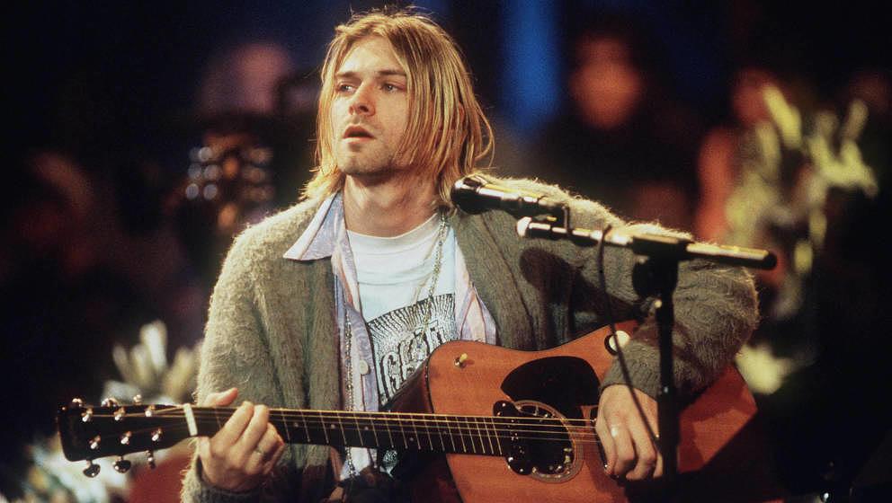 Kurt Cobain 1993 Live beim MTV Unplugged Konzert mit Nirvana in New York
