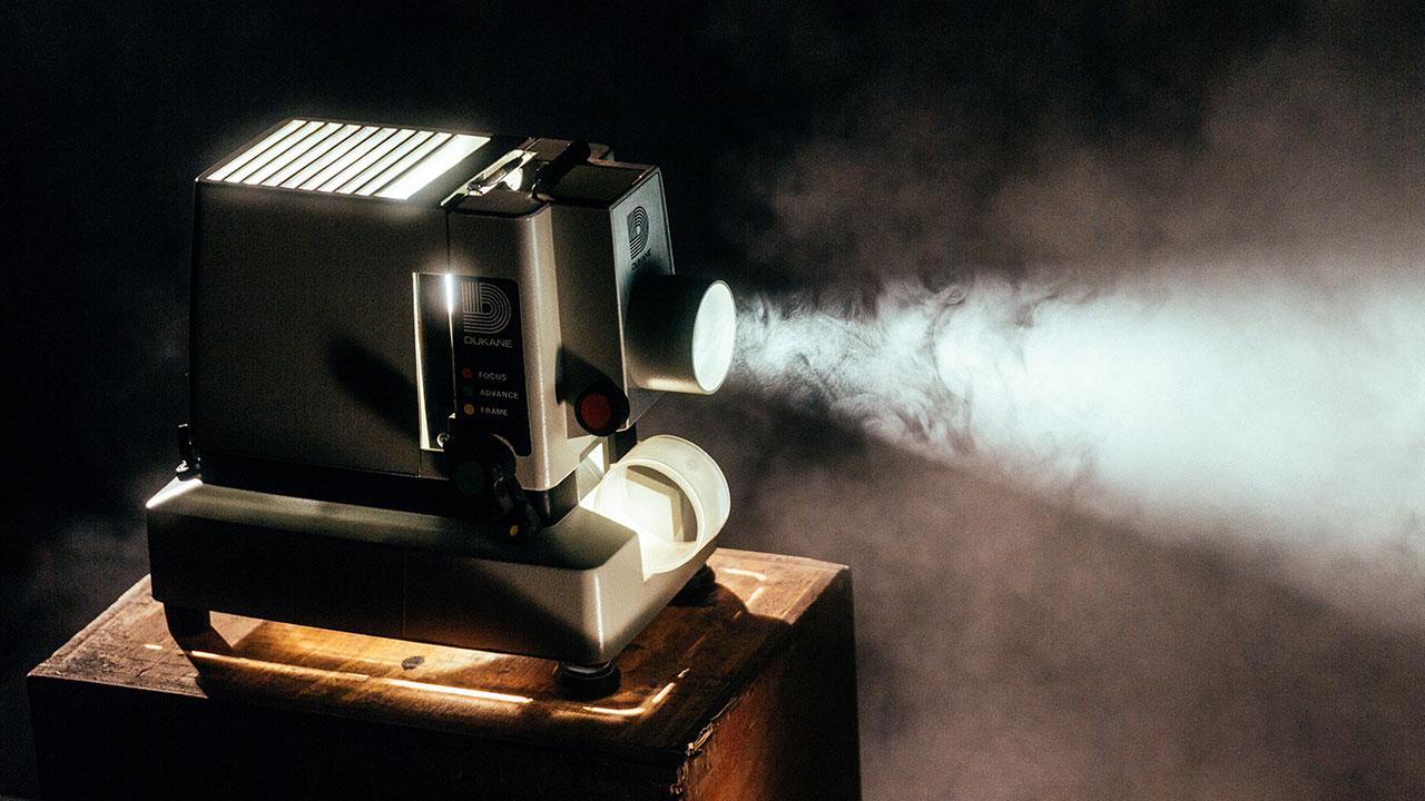 Ein Projektor aus alten Zeiten.