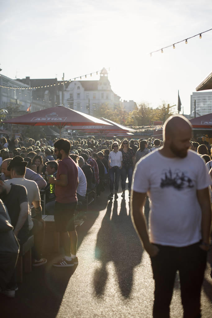 Auf dem Spielbudenplatz beim Reeperbahn Festival 2019