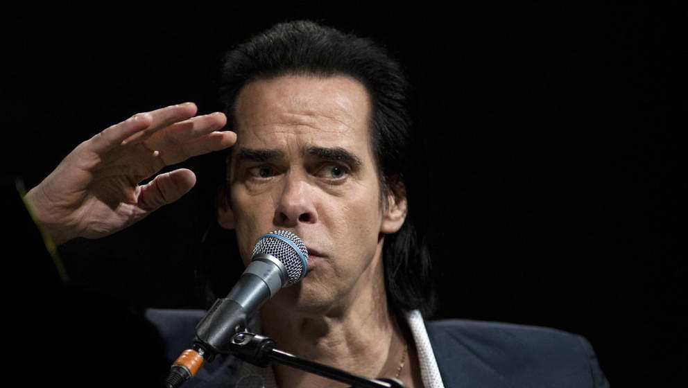 Australian singer Nick Cave performs on stage at the World Forum, The Hague, Netherlands, 16 May 2015. (Photo by Paul Bergen/