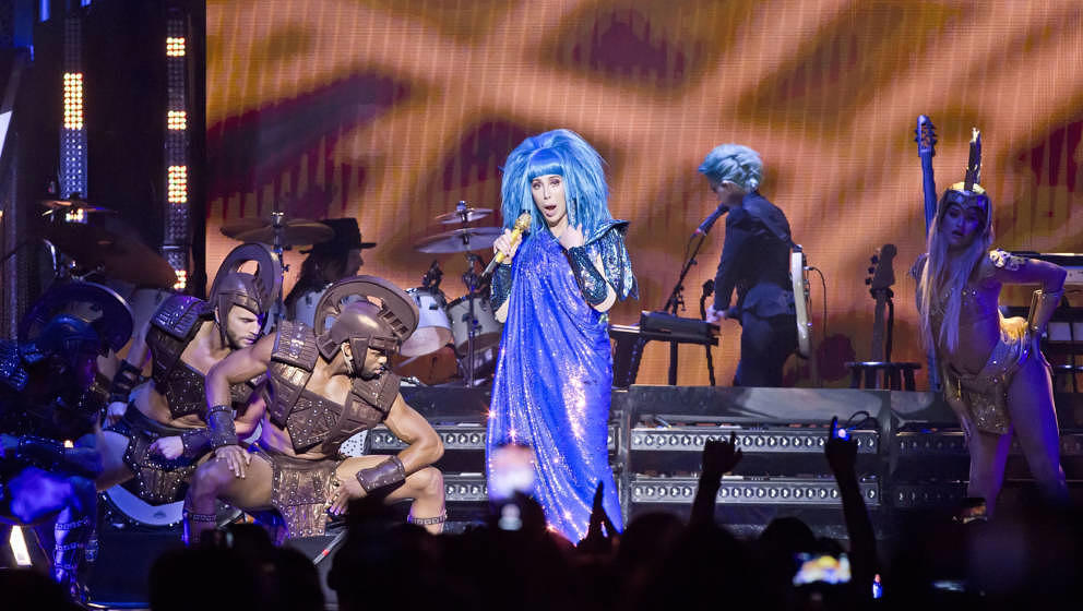 BERLIN, GERMANY - SEPTEMBER 26: American singer Cher performs live on stage during a concert at the Mercedes-Benz Arena on Se