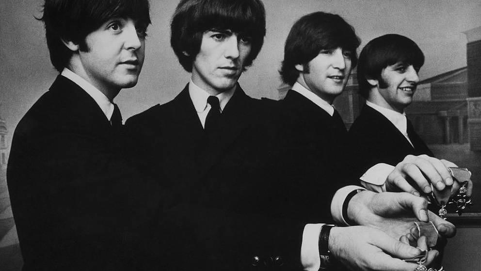 V.l.n.r.: Paul McCartney, Ringo Starr, John Lennon und George Harrison.