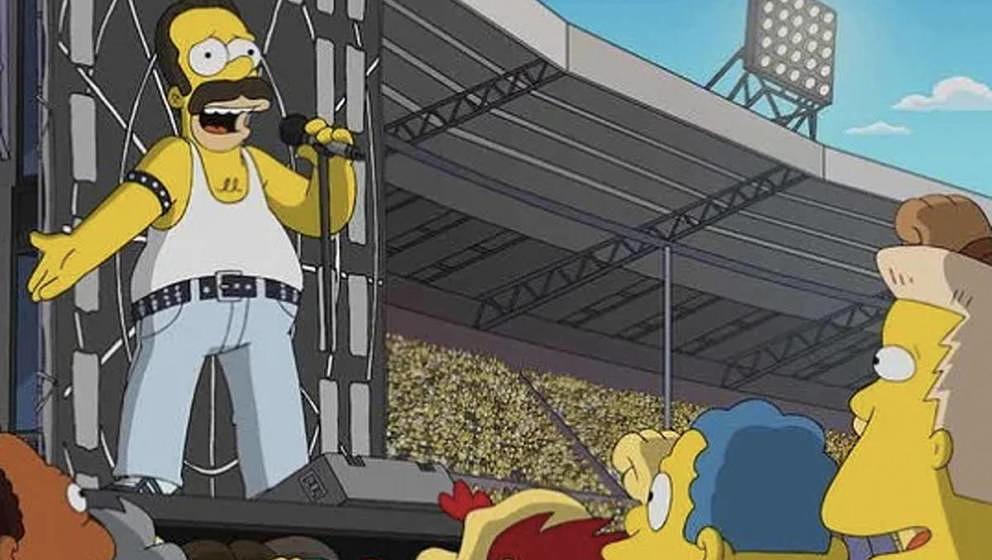 Homer Simpson als Freddie Mercury