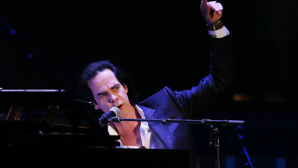 LOS ANGELES, CA - APRIL 07:  Nick Cave performs onstage during the celebration of The 60th Anniversary of Allen Ginsberg's Ho