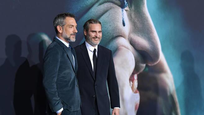 """Regisseur Todd Phillips und Joaquin Phoenix bei der """"Joker""""-Premiere am 28. September 2019 in Hollywood"""