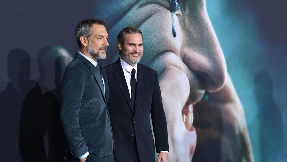 "Regisseur Todd Phillips und Joaquin Phoenix bei der ""Joker""-Premiere am 28. September 2019 in Hollywood"