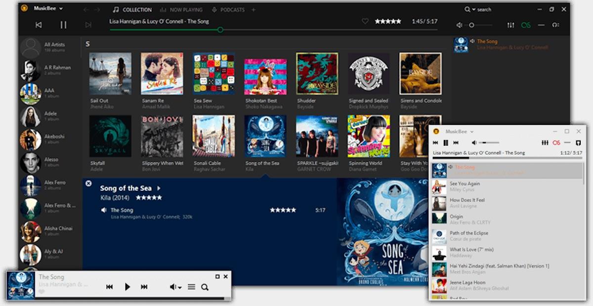 MusicBee hilft beim Verwalten und Durchsuchen vor allem von Musik