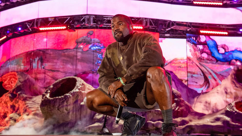 INDIO, CALIFORNIA - APRIL 20: Kanye West performs during 2019 Coachella Valley Music And Arts Festival on April 20, 2019 in I