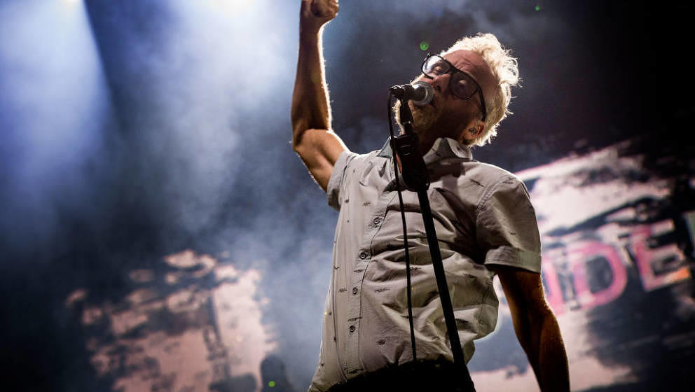 ITALY - CASTELBUONO , AUGUST 09 : Matt Berninger of The National performs during Ypsigrock Festival at  on August 9, 2019 in