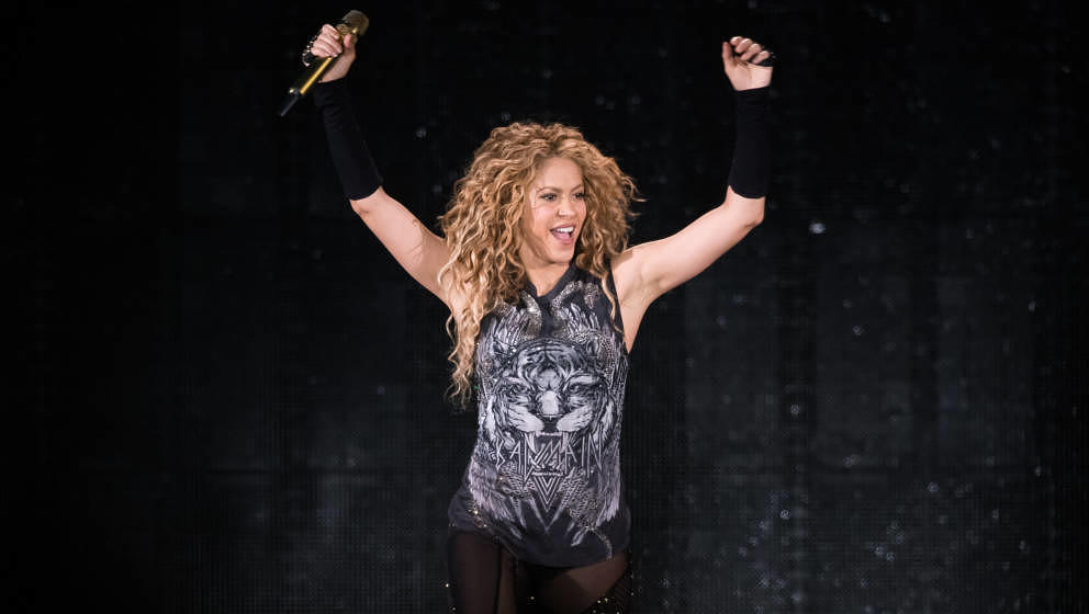 NEW YORK, NY - AUGUST 10:  Shakira performs in concert at Madison Square Garden on August 10, 2018 in New York City.  (Photo