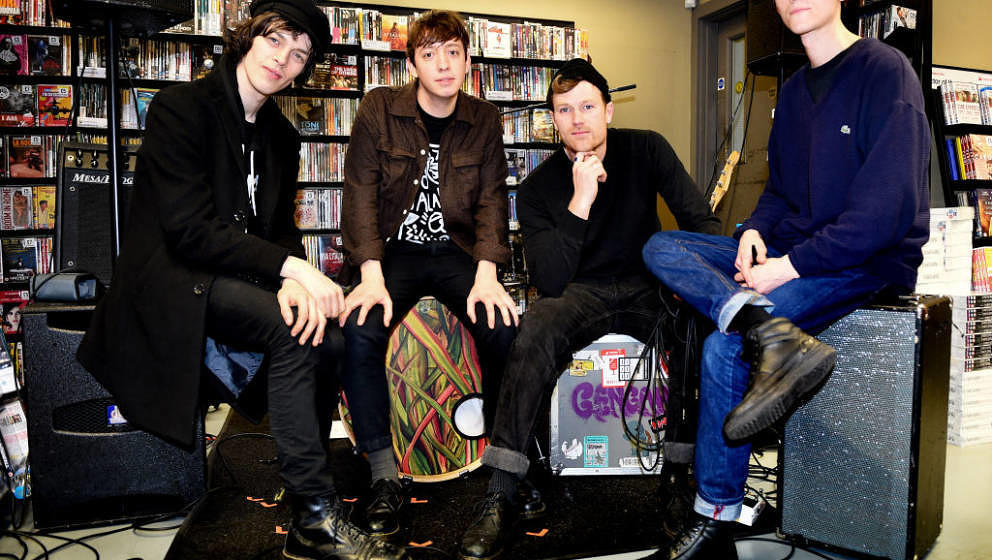 MANCHESTER, ENGLAND - MARCH 10:  (EXCLUSIVE COVERAGE) Felix Bushe, John Victor, Hugh Schulte and Danny Ward of Gengahr during