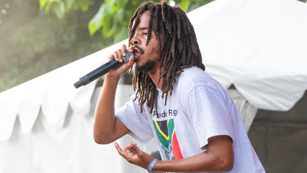 CHICAGO, IL - JULY 19:  Earl Sweatshirt performs onstage during the 2019 Pitchfork Music Festival at Union Park on July 19, 2