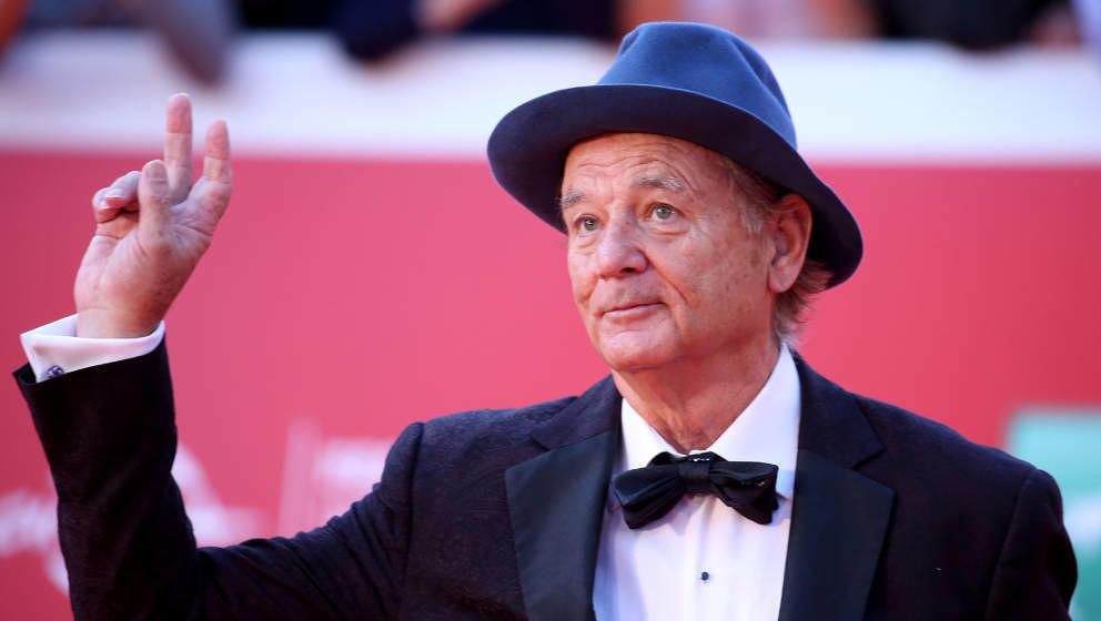 Bill Murray auf dem roten Teppich des Rome Film Festivals 2019