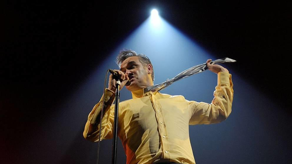 GERMANY - DECEMBER 13:  ZENITH  Photo of MORRISSEY, Morrissey performing on stage  (Photo by Stefan M. Prager/Redferns)