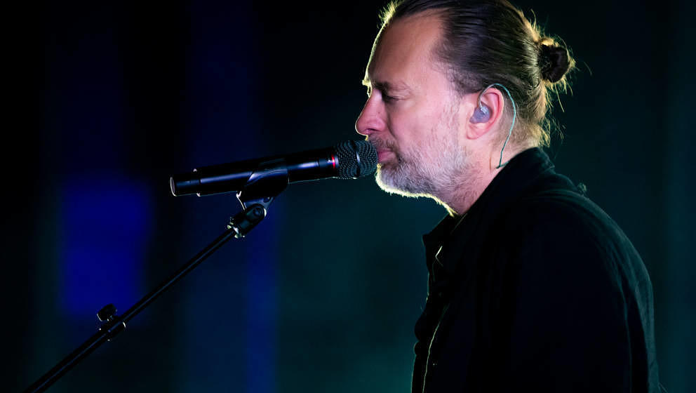 LOS ANGELES, CALIFORNIA - OCTOBER 29: Thom Yorke performs onstage at The Greek Theatre on October 29, 2019 in Los Angeles, Ca