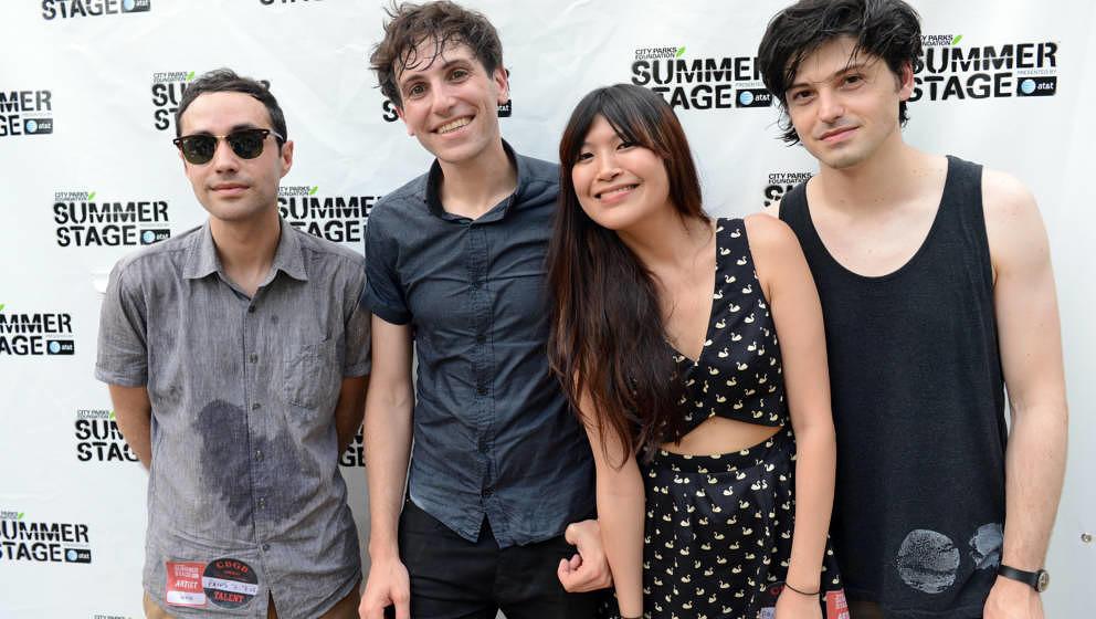 Alex Naidus, Kip Berman, Peggy Wang und Kurt Feldman von Pains of Being Pure at Heart, 2012 in New York City.