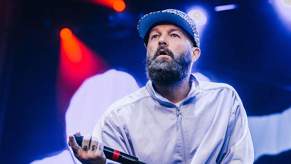 BERLIN, GERMANY - JUNE 02:  Singer Fred Durst of Limp Bizkit performs live on stage during a concert at Zitadelle Spandau on